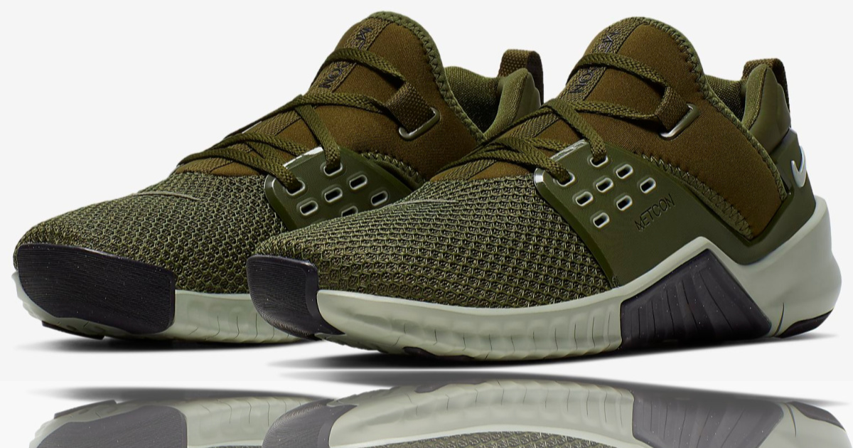 olive colored Nike Men's Free X Metcon 2 Training Shoes