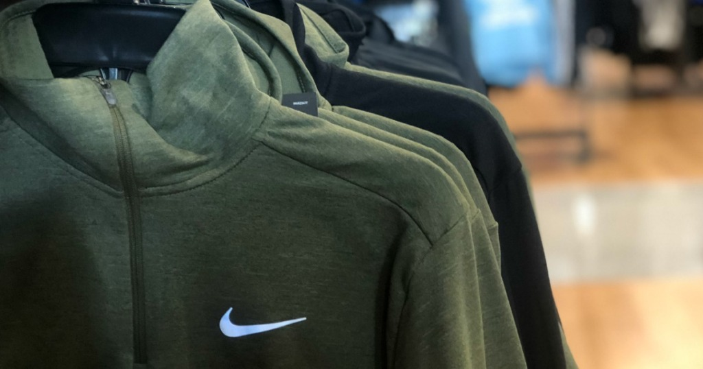 Nike Sweatshirt on hangers at a store