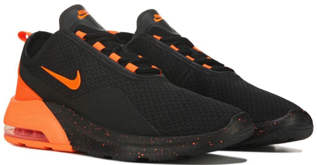 black and orange nike shoes