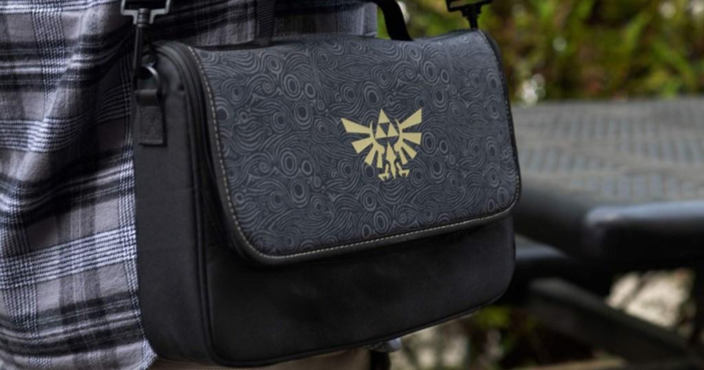 Man Carrying Zelda Nintendo Switch Crossbody Bag