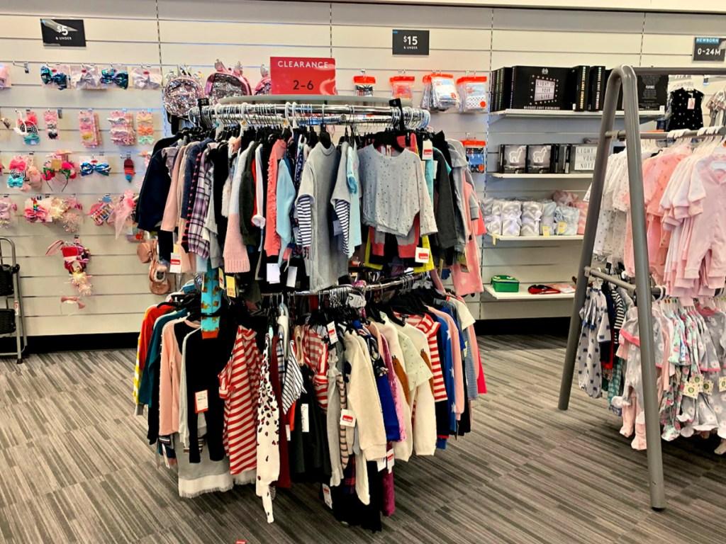 Nordstrom Rack children's clothing on racks