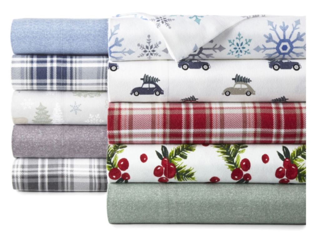 various color and patterned flannel sheets