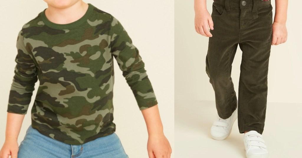 boy wearing a shirt and pants