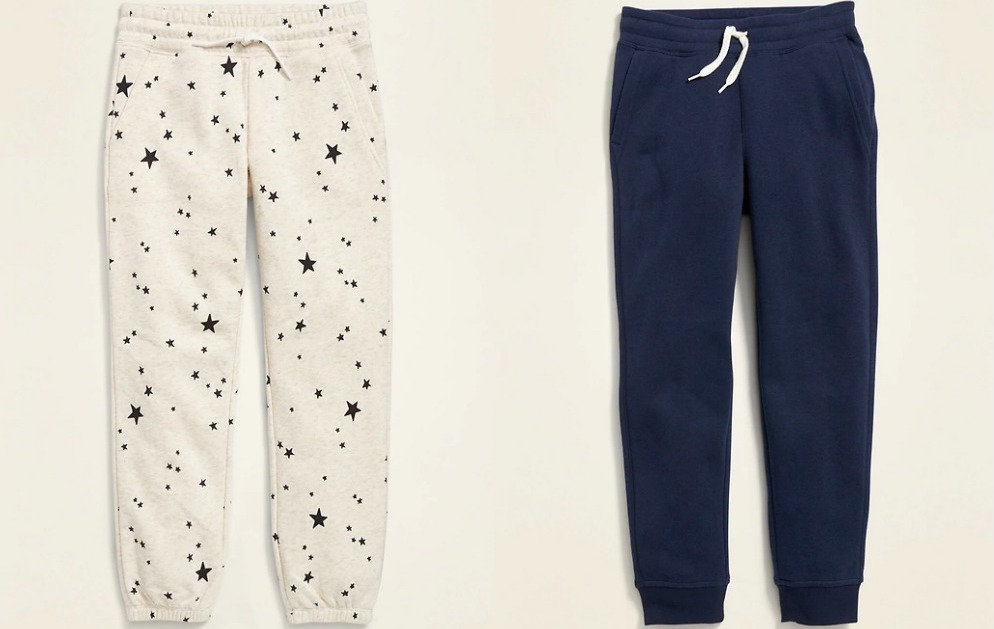 two pairs of joggers