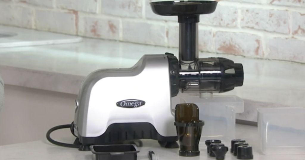 omega juicer on counter top