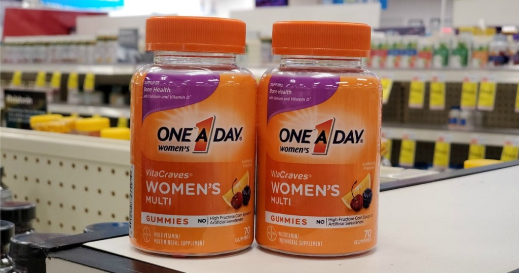 One a Day Women's Gummies on store counter