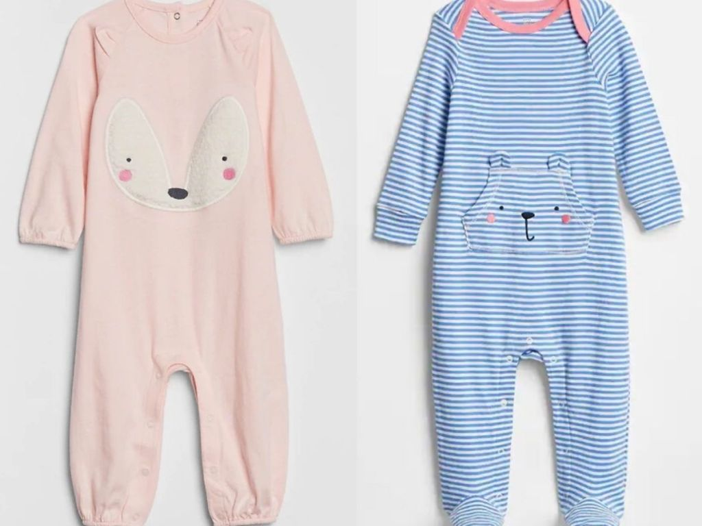 two baby girls one piece long sleeve outfits