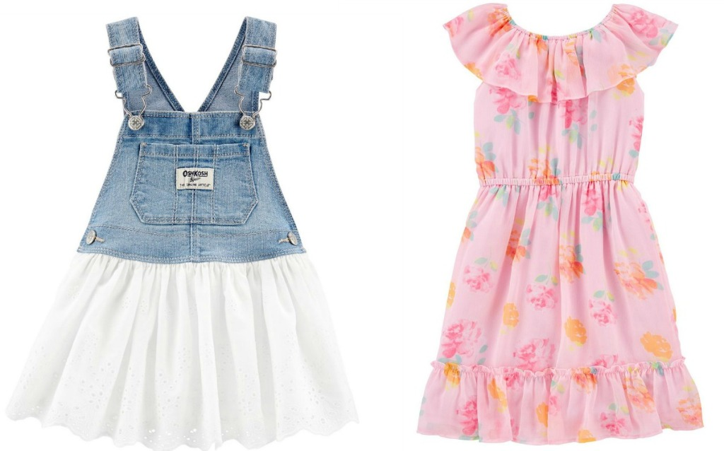 Two styles of girls dresses