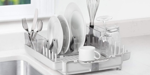OXO Good Grips Foldaway Dish Rack Only $29.99 Shipped on Macy's (Regularly $67)