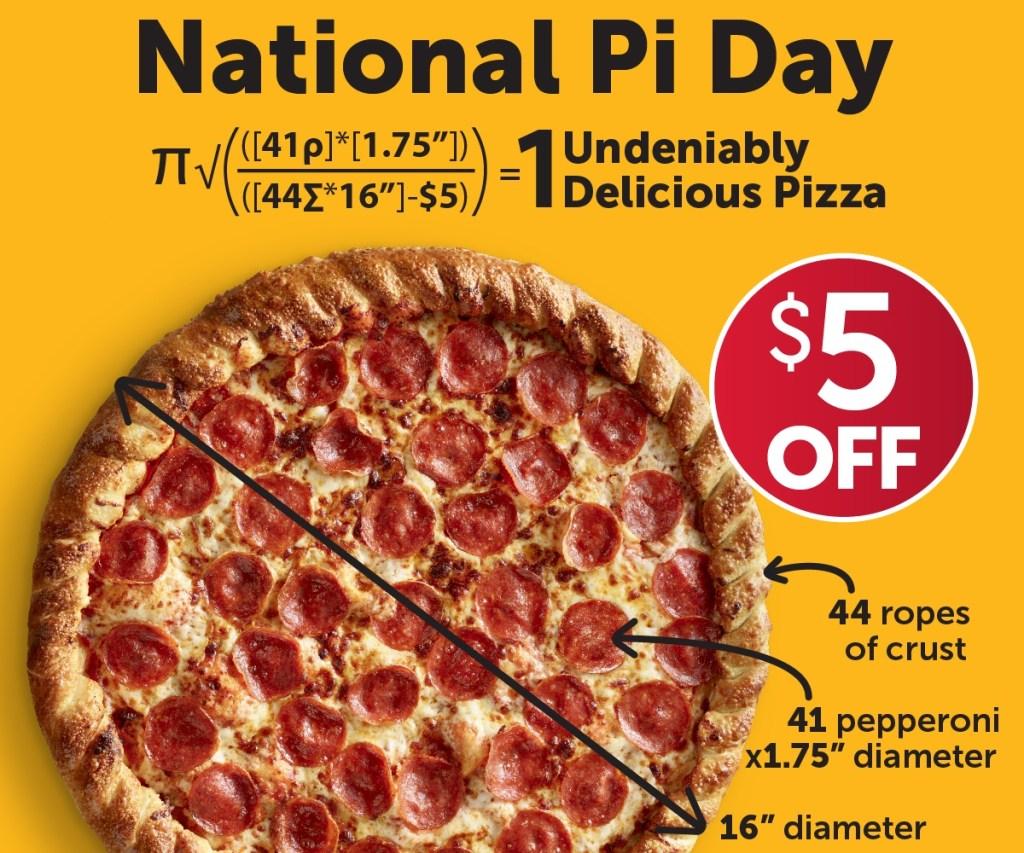 Pilot Flying J National Pi Day pizza promo