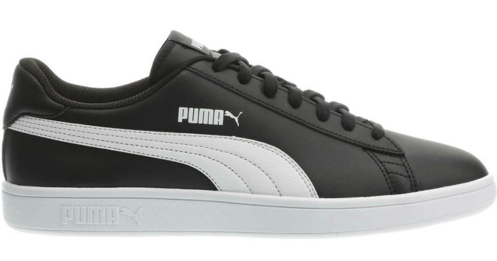 Black PUMA Mens Leather Shoe