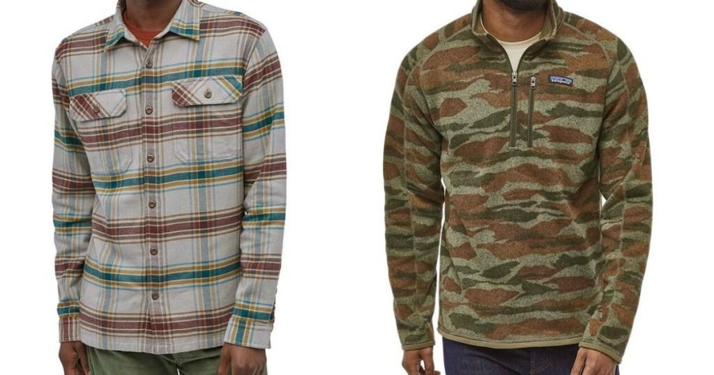 two men wearing Patagonia shirts