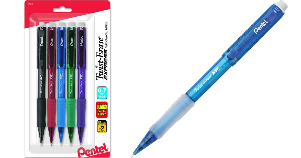 package of mechanical pencils with a pencil next to it