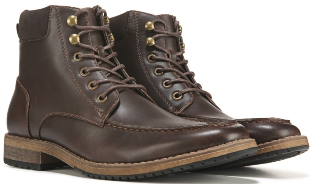 brown lace-up boots
