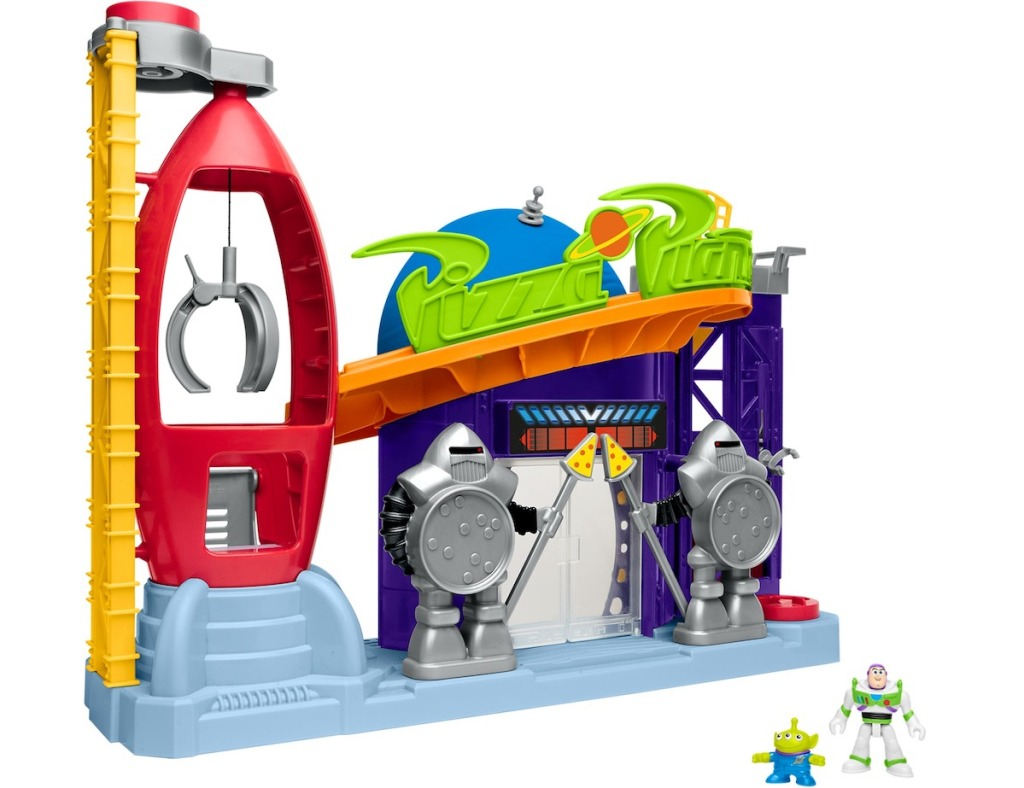 pizza planet playset with buzz and alien figures