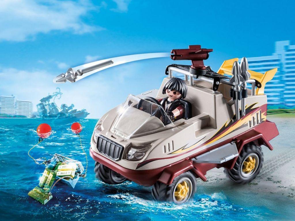 playmobile amphibious truck playset