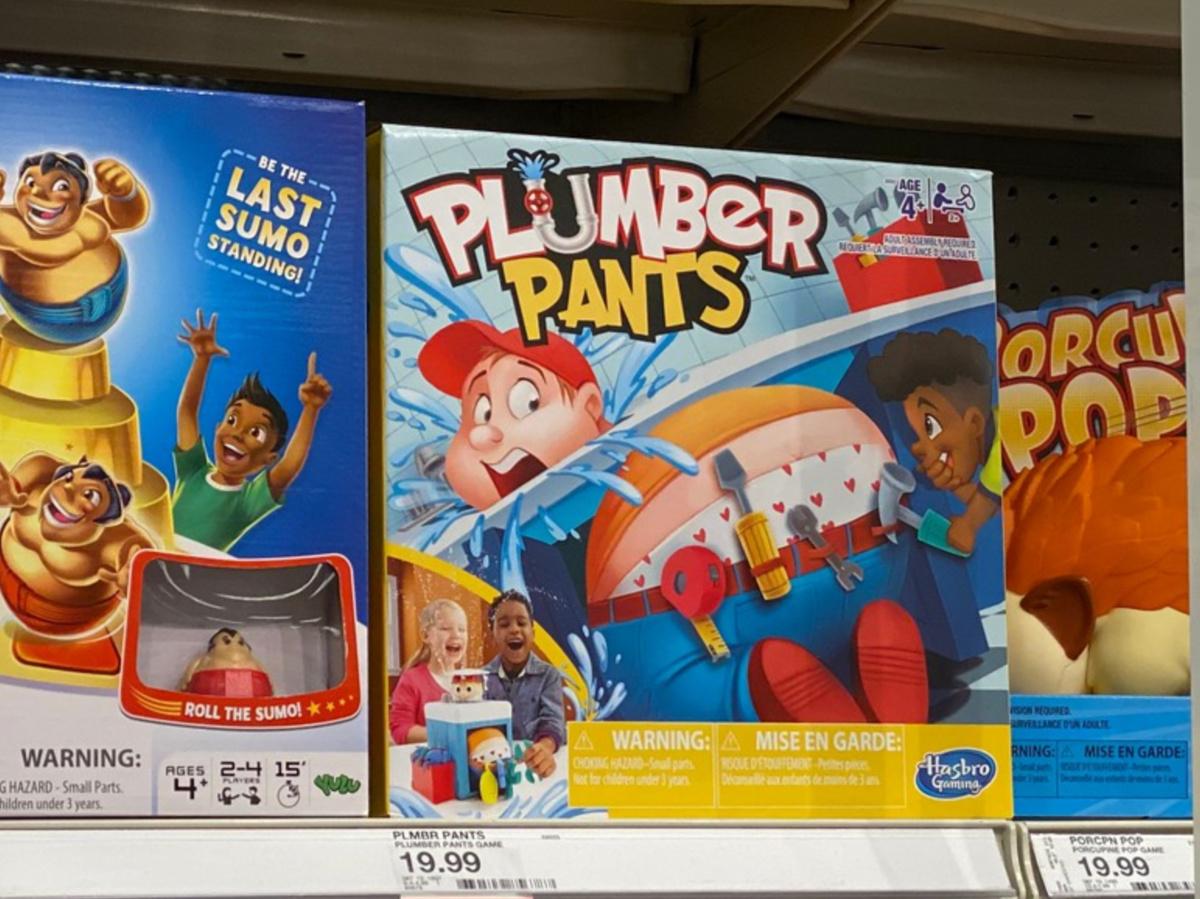 kids games on store shelf