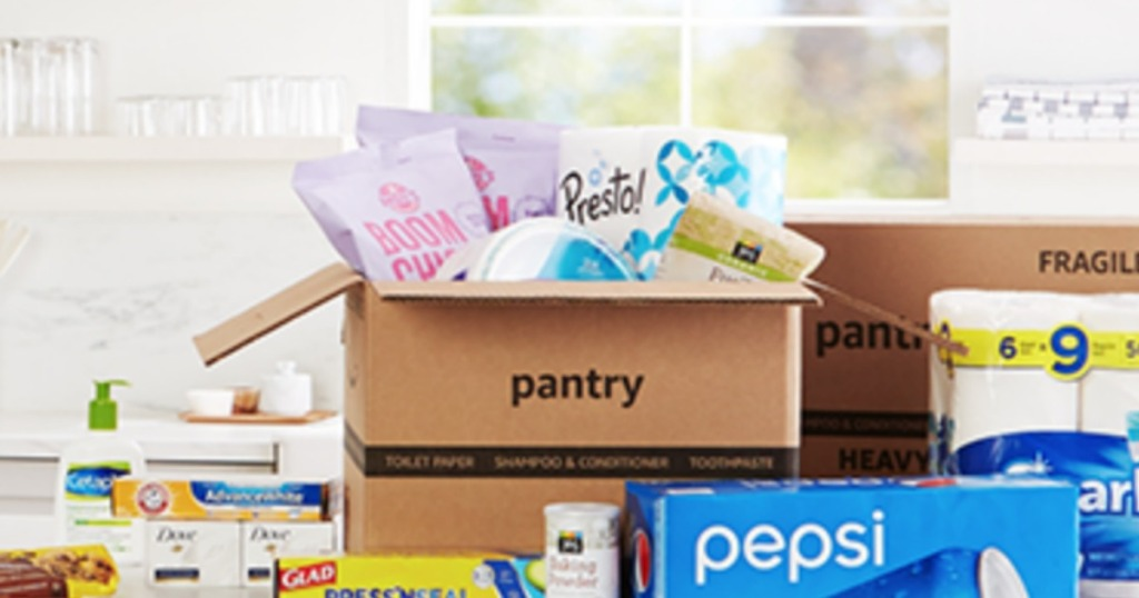 Prime Pantry Box on counter