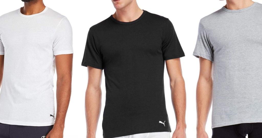 Men wearing Puma short sleeve t-shirts