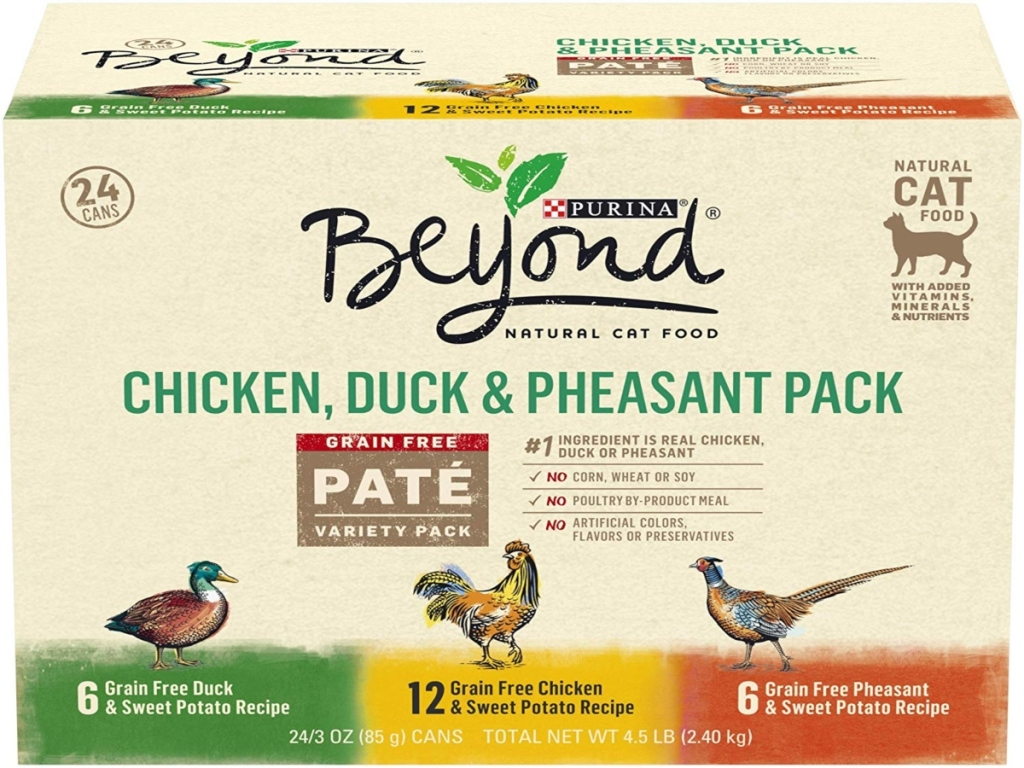 Purina Beyond Pate Multipack. Three different flavors
