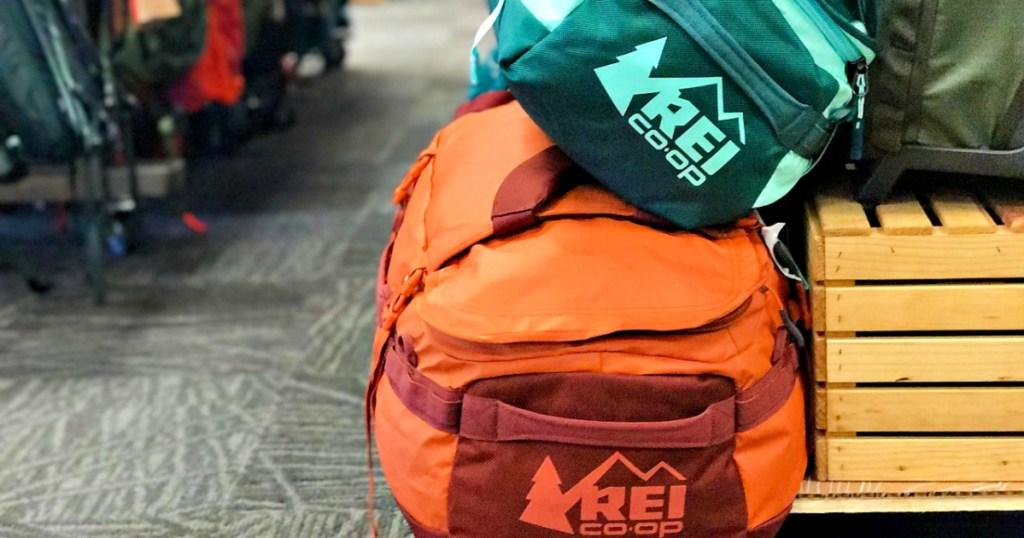 REI Duffle Bags in store