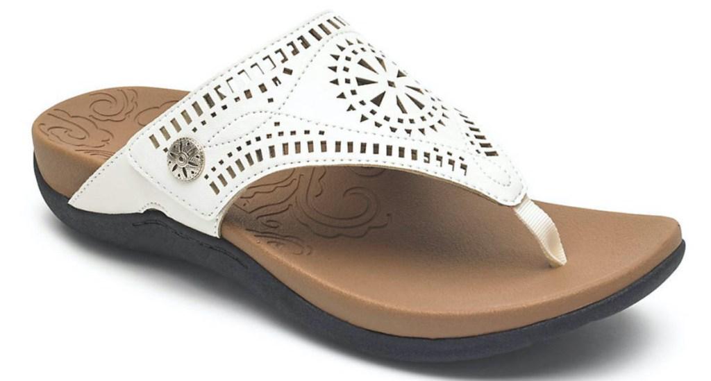 white womens sandal