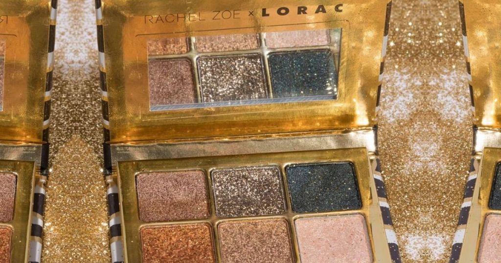 Eyeshadow palette with 6 glittery eyeshadows