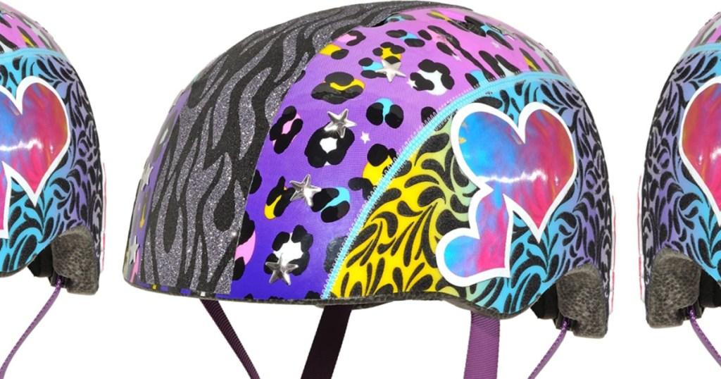 colorful heart helmet
