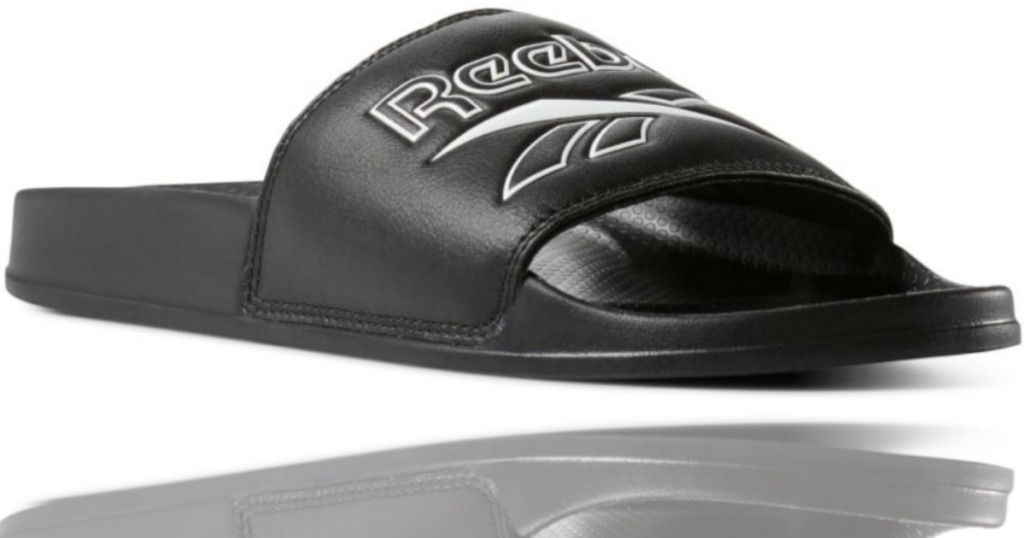 black Reebok sandals