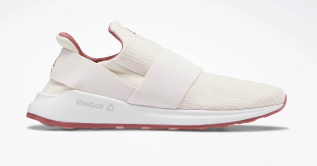 White Reebok Women's slip on shoes. Only one show shown