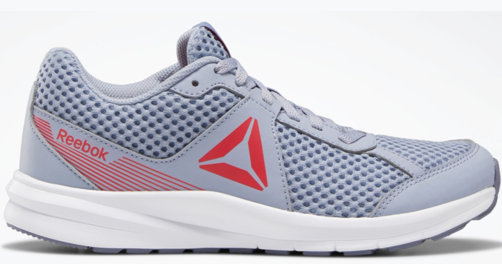 grey and red Reebok Girls Endless Road Shoes
