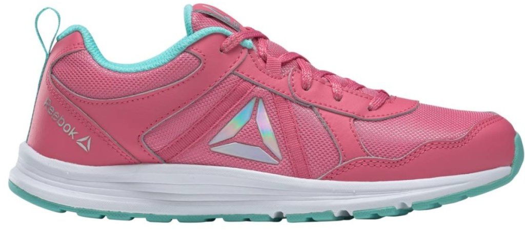 pink and blue reebok shoes
