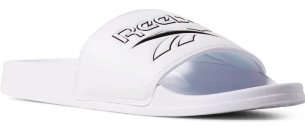 Reebok slides in white