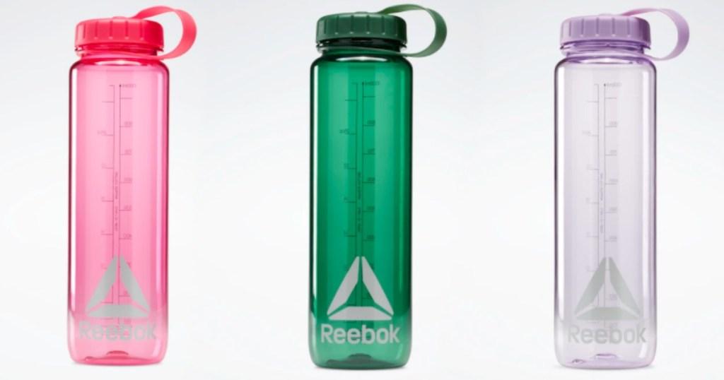 three Reebok Water Bottles