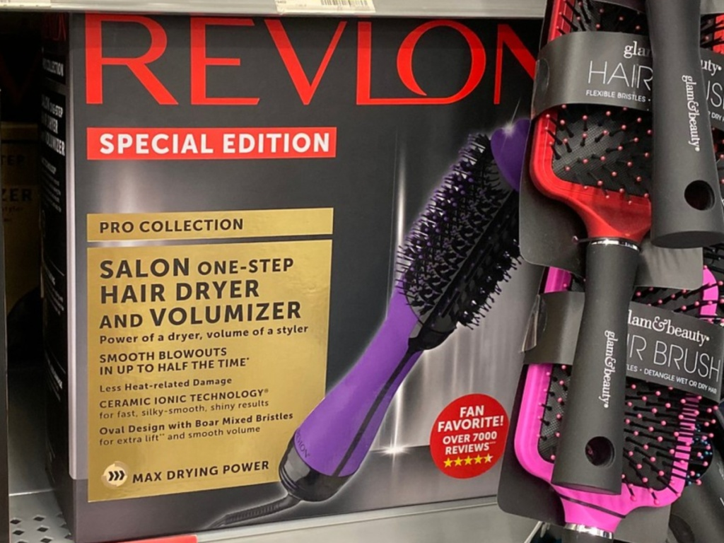 revlon special edition hair dryer on store shelf