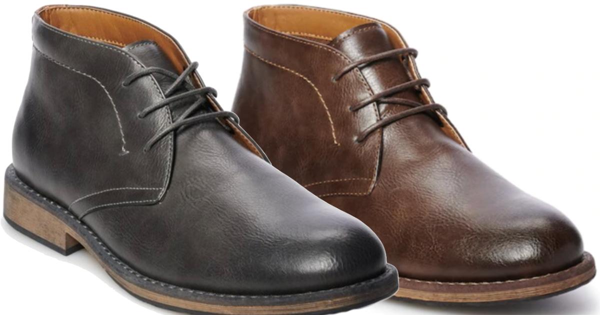 black or brown SONOMA Goods for Life Bayport Men's Chukka Boots