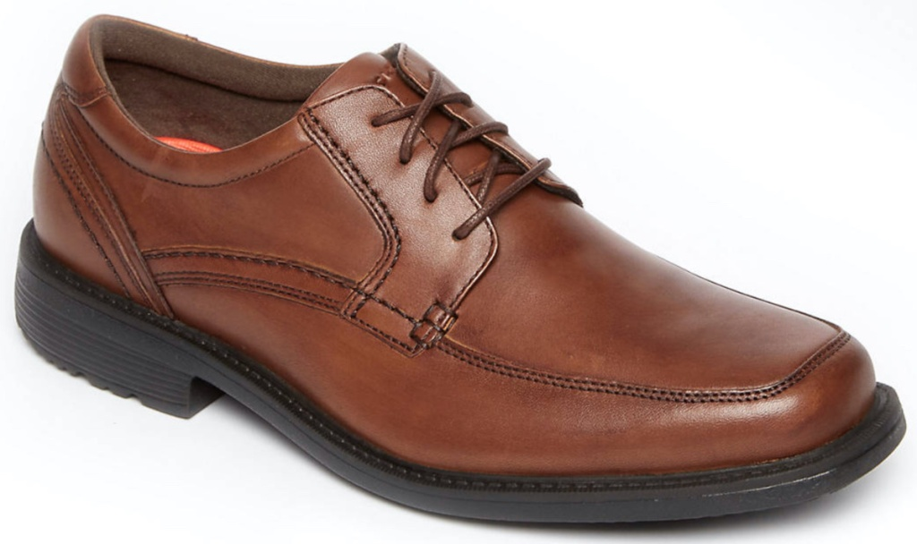 men's brown leather dress shoe