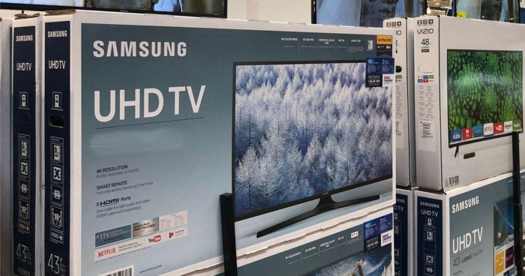 Samsung UHD TV box in costco