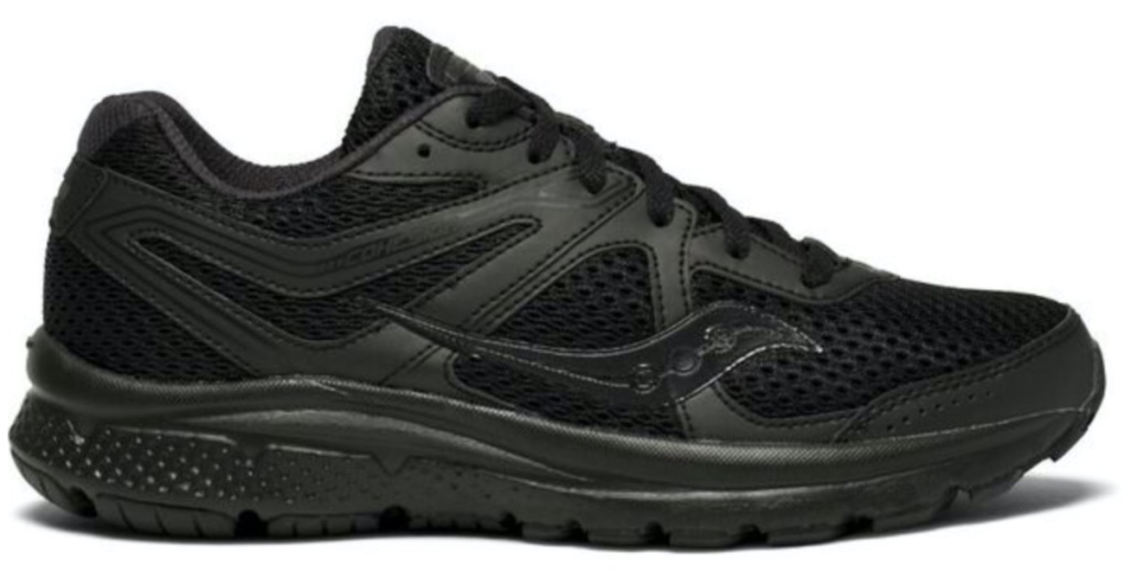blak women's running shoe