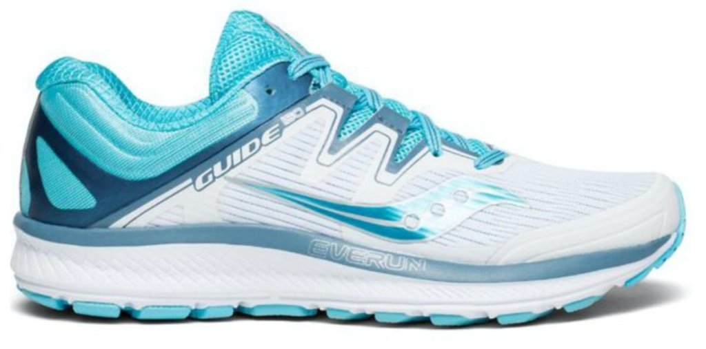 women's blue and white running shoe