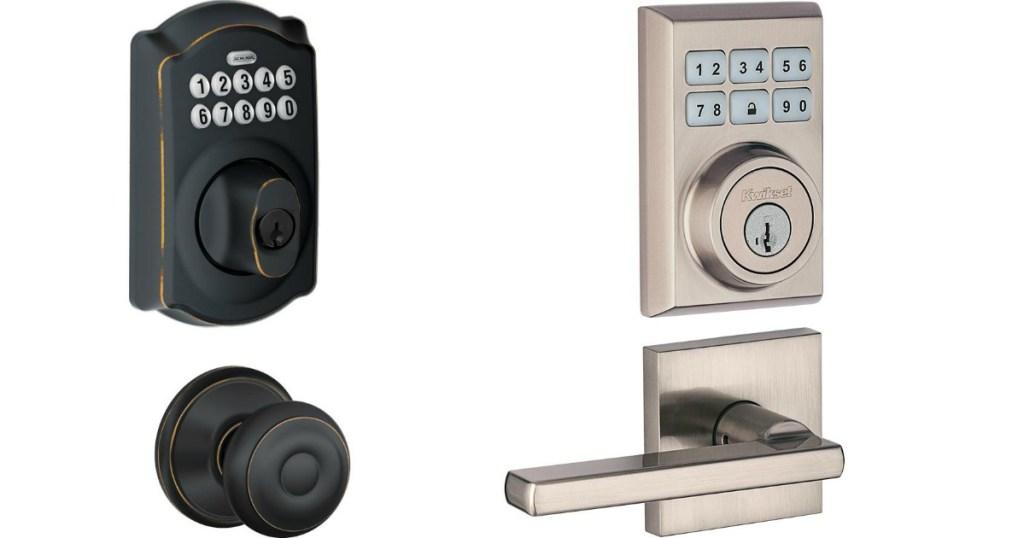 Schlage and Kwikset door locks
