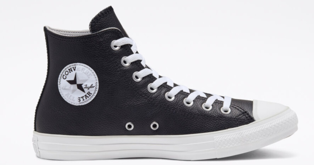 black converse Seasonal Color Leather Chuck Taylor All Star