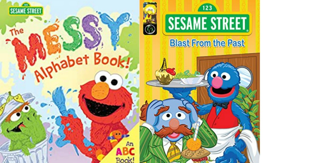 two Sesame Street book covers