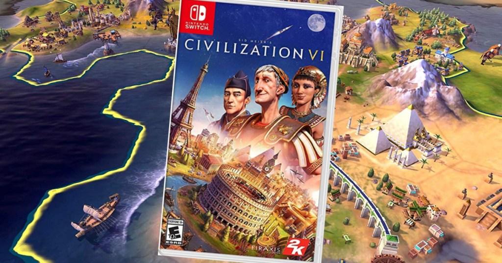 Sid Meier's Civilization case over screen shot of game