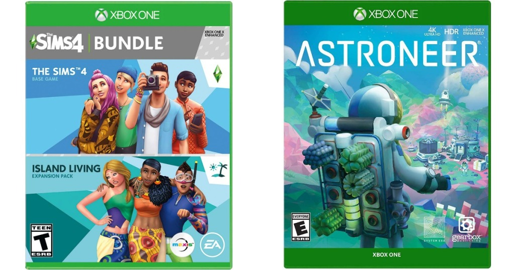Sims 4 and Astroneer Games on Xbox