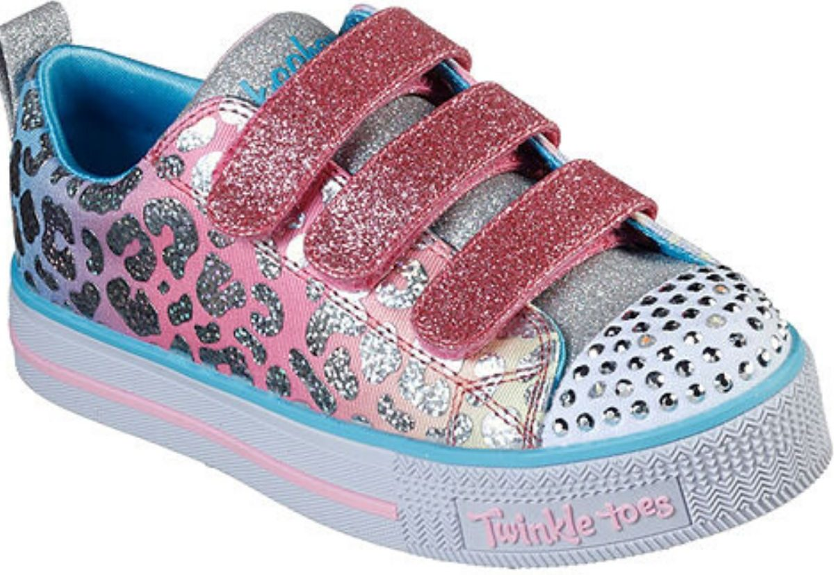 right foot girls embezzled velcro sneakers