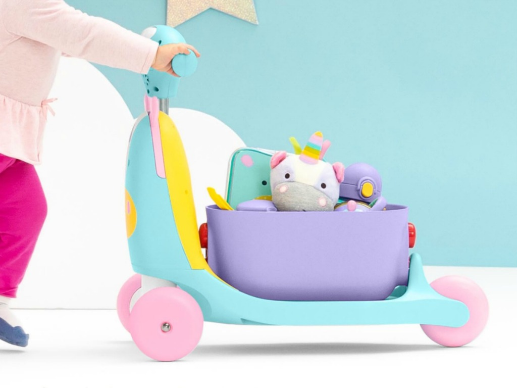 Small child's toy with cart