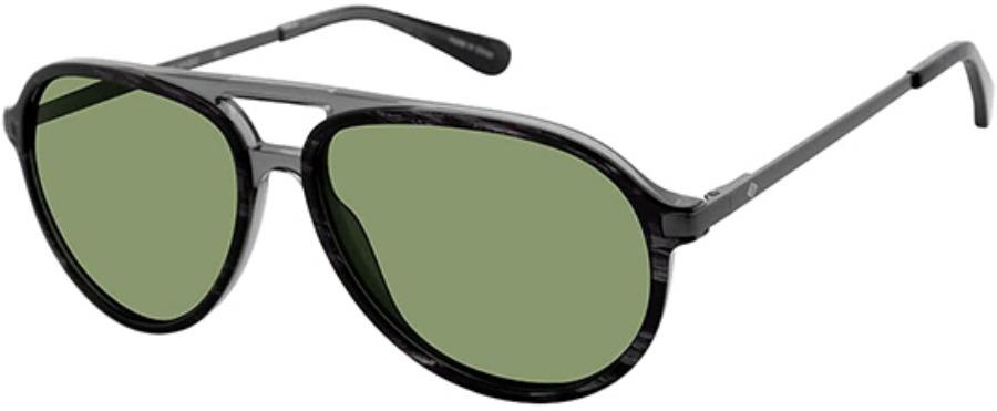 Sperry-Black Aviator Sunglasses