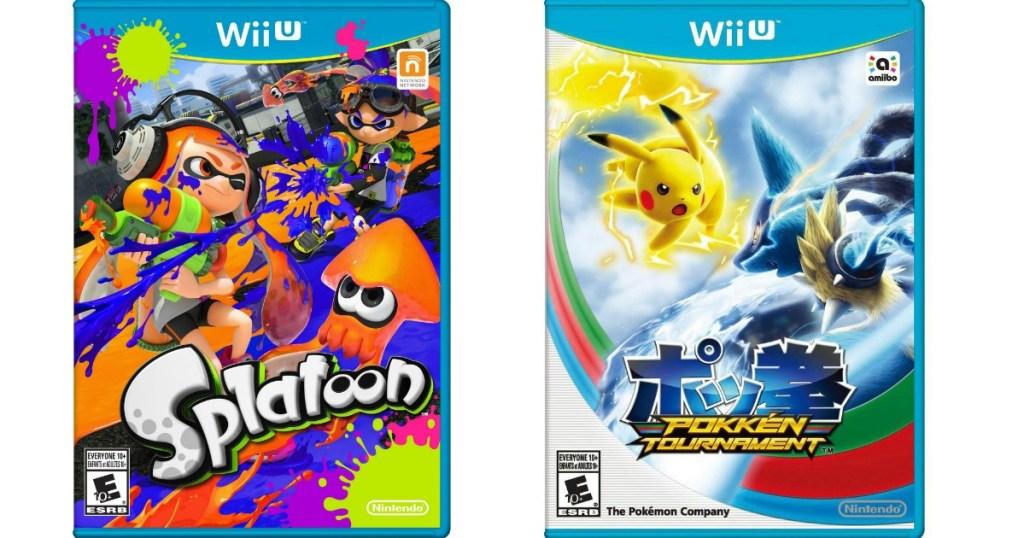 Splatoon and Pokken tournament videogames