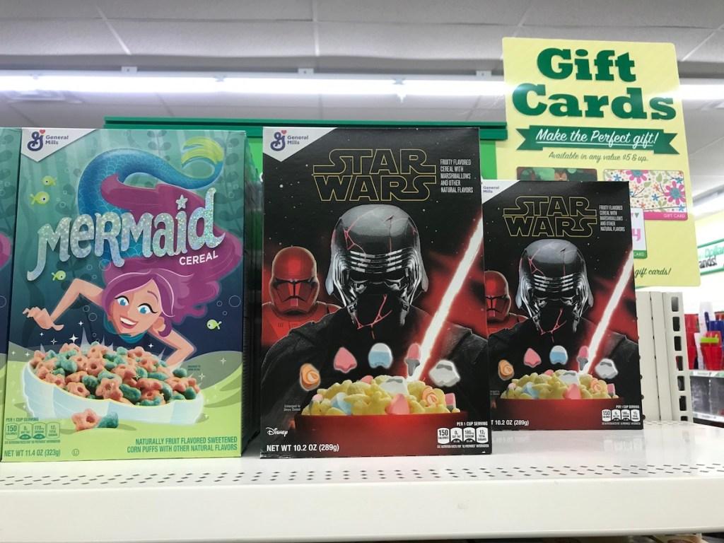 Star Wars Cereal on Dollar Tree Shelf